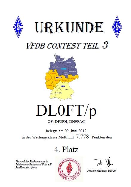 Urkunde VHF 2m